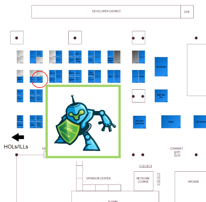 LeanSentry booth location at TechEd 2013