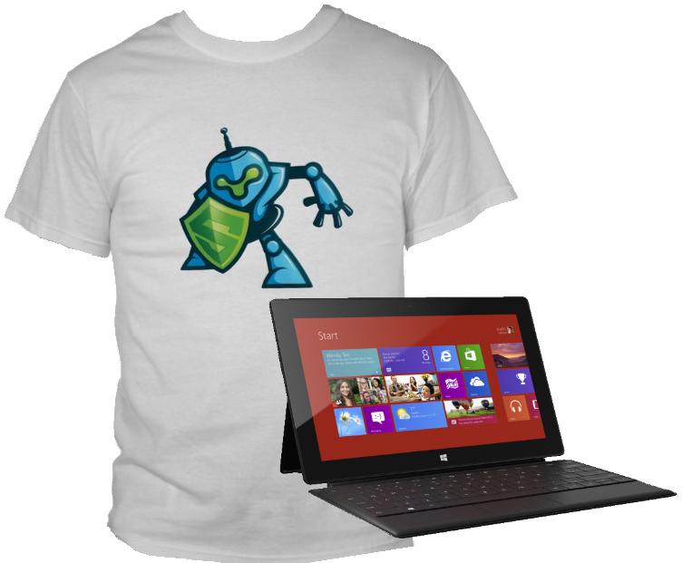 Wear the LeanSentry robot shirt, and win a Microsoft Surface!